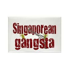 Singaporean Gangsta Rectangle Magnet