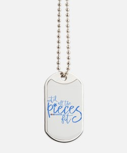 Cute I love someone with autism Dog Tags