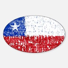 Textual Chile Oval Decal