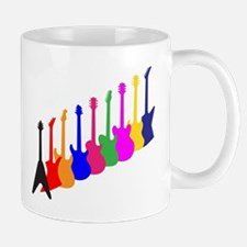 Modern Guitar Silhouettes Mugs