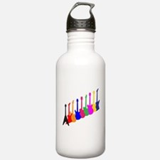 Modern Guitar Silhouet Water Bottle