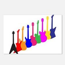 Modern Guitar Silhouettes Postcards (Package of 8)