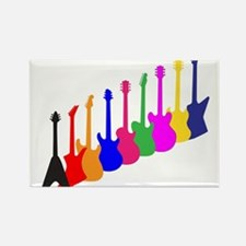 Modern Guitar Silhouettes Magnets