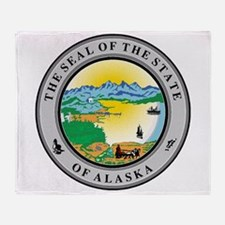Seal of the state of Alaska Throw Blanket