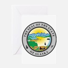 Seal of the state of Alaska Greeting Cards