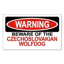 CZECHOSLOVAKIAN WOLFDOG Rectangle Decal