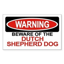 DUTCH SHEPHERD DOG Rectangle Decal