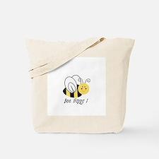 bee happy.jpg Tote Bag