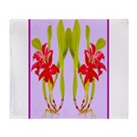 ORCHIDS Throw Blanket