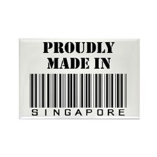 Made In Singapore Rectangle Magnet
