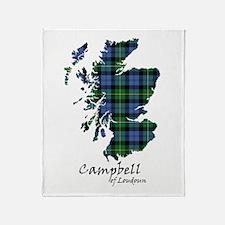 Map - Campbell of Loudoun Throw Blanket