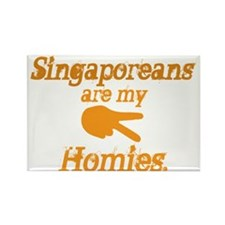 Singaporeans are my homies Rectangle Magnet