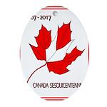 Canada, Sesquicentennial Celebration Oval Ornament