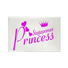 Cute Singapore made Rectangle Magnet