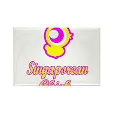 Singaporean Chick Rectangle Magnet