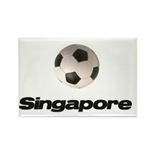 Singapore Soccer Ball Rectangle Magnet