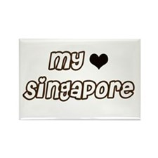 My Singapore Rectangle Magnet