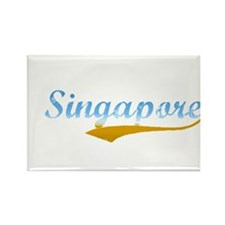 Beach Colored Singapore Rectangle Magnet