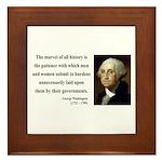 George Washington 7 Framed Tile