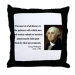 George Washington 7 Throw Pillow