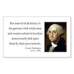 George Washington 7 Rectangle Sticker