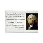 George Washington 7 Rectangle Magnet (100 pack)