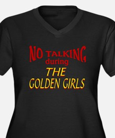 No Talking D Women's Plus Size V-Neck Dark T-Shirt