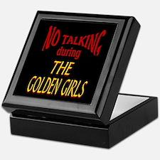 No Talking During Golden Girls Keepsake Box