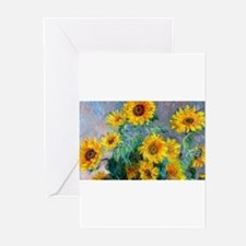 Bag Monet Sunf Greeting Cards