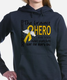 Cute Leukemia granddaughter Women's Hooded Sweatshirt