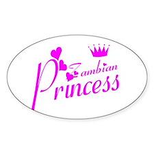Zambian princess Oval Decal