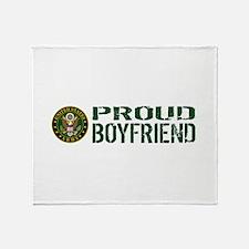 U.S. Army: Proud Boyfriend (Green & Throw Blanket