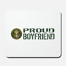 U.S. Army: Proud Boyfriend (Green & Whit Mousepad