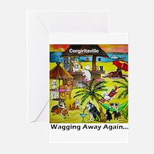 Corgiritaville - Wagging away again... Greeting Ca