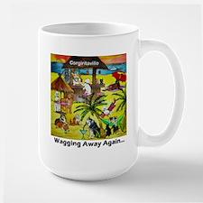 Corgiritaville - Wagging away again... Mugs