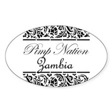 Pimp nation Zambia Oval Decal