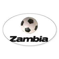 Zambia soccer Oval Decal