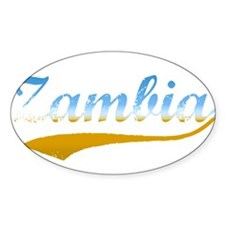 Zambia beach flanger Oval Decal