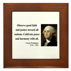 George Washington 8 Framed Tile