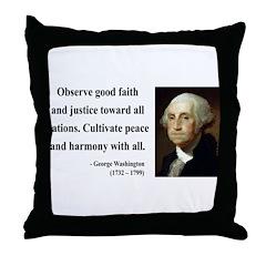 George Washington 8 Throw Pillow