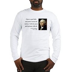 George Washington 8 Long Sleeve T-Shirt