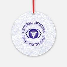 Third Eye chakra Round Ornament