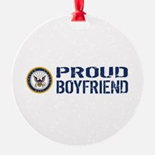U.S. Navy: Proud Boyfriend (Blue & Ornament