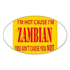 Hot Zambian Oval Decal