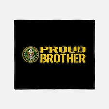 U.S. Army: Proud Brother (Black & Go Throw Blanket