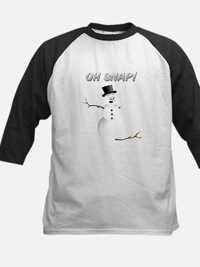 OH SNAP! Snowman Baseball Jersey