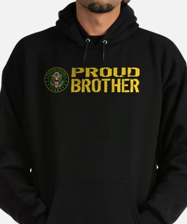 U.S. Army: Proud Brother (Gold) Hoodie (dark)