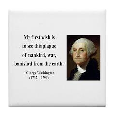 George Washington 9 Tile Coaster