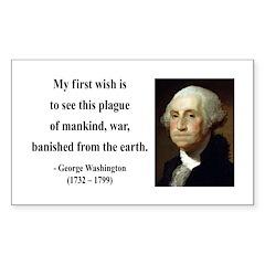 George Washington 9 Rectangle Decal