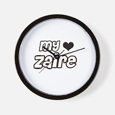Cool Zaire pride Wall Clock